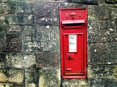 Letter box, Melrose, Scotland